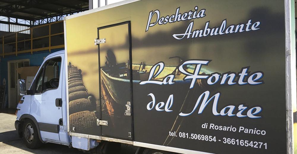 monaco pubblicita personalizzazione automezzo pescheria